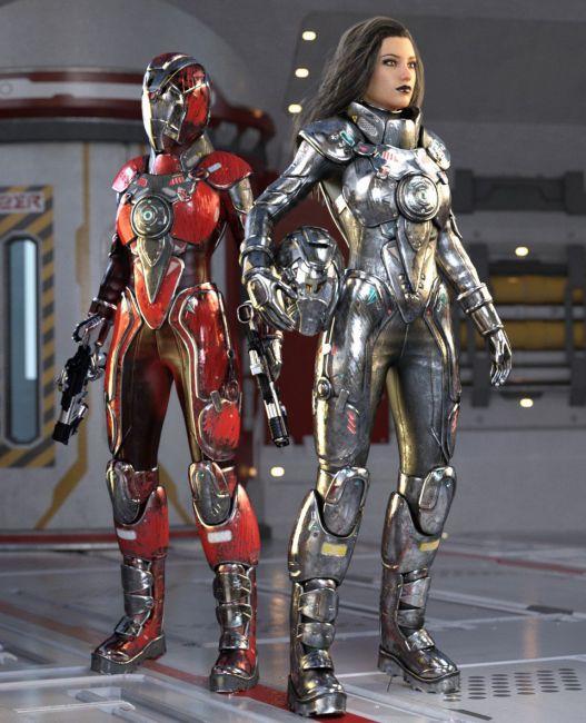 Galactic Sci-Fi Suit for Genesis 8 Female(s)