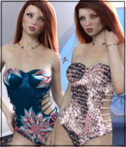 Sirens: X-Fashion Ribbed Swimsuit