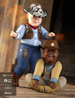dForce Cowboy Costume Textures