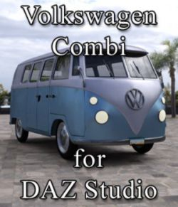 Volkswagen Combi for DAZ Studio