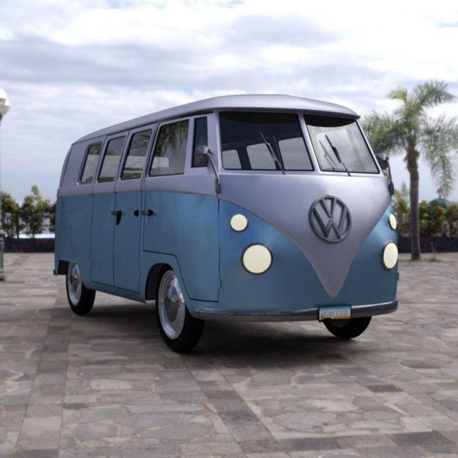 Volkswagen Combi for DAZ Studio