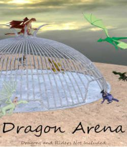DRAGON ARENA Ultimate Dragon Fighting Cage for Daz Studio and Poser