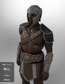 Deadly Warrior Armor for Genesis 8 Male(s)