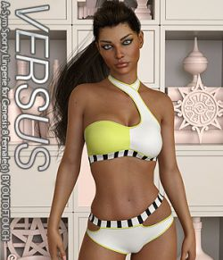VERSUS- A-Sym Sporty Lingerie for Genesis 8 Females