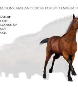 Animations for Millennium Horse - Poser and Daz Studio