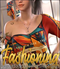 Fashioning for dForce XXL Shirt for Genesis 8 Females