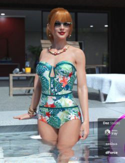 Sophisticated Swimsuit for Genesis 8 Female(s)