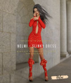 NELMI-Slinky Dress Textures for Genesis 8 Female(s)