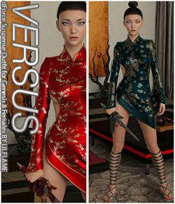 VERSUS- dForce Suspense Outfit for Genesis 8 Females