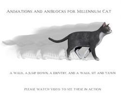 Animations for Millennium Cat- Poser and Daz Studio
