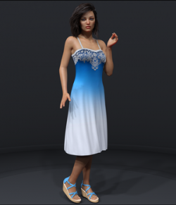 Ombre Fashion Dress for Genesis 8 Females