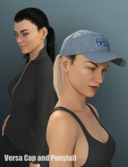 Versa Cap and Ponytail for Genesis 8 Female(s)