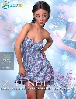 Z Tender Beauty Poses and Expressions for Tika 8 and Genesis 8 Female