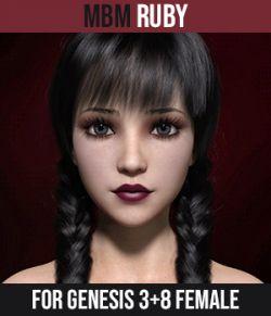 MbM Ruby for Genesis 3 & 8 Female
