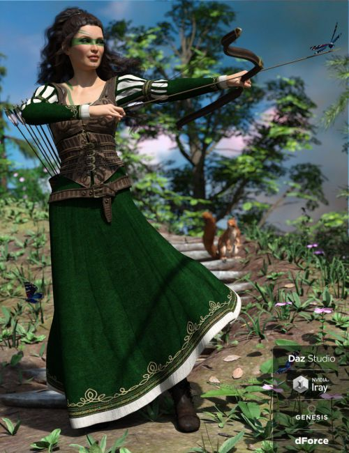 dForce Meadow Whispers Outfit for Genesis 8 Female(s)