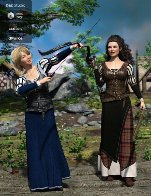 dForce Meadow Whispers Outfit Textures