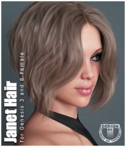 Janet Hair for Genesis 3 and 8 Females