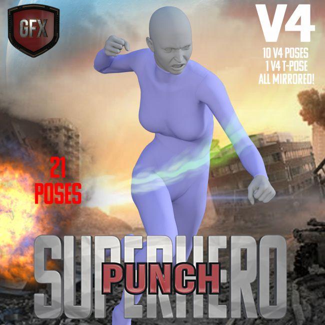 SuperHero Punch for V4 Volume 1