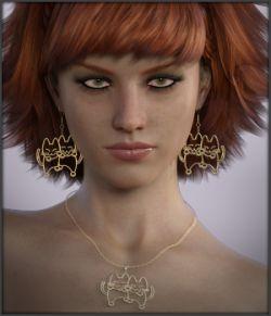Krazy Kats Earrings & Necklace G3F G8F