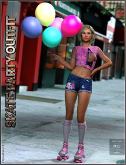 Skate Party Outfit and Poses For Genesis 8 Female(s)