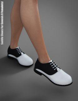 Saddle Shoes For Genesis 8 Female(s)