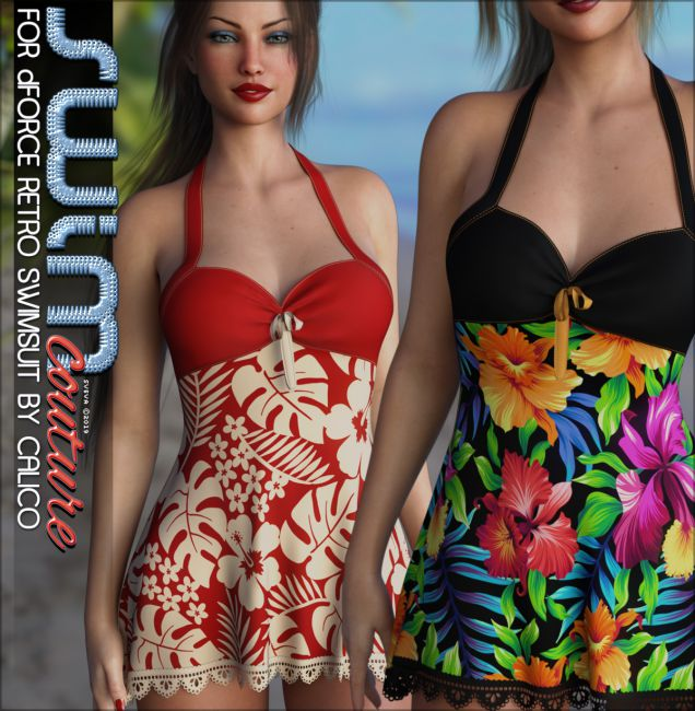SWIM Couture for dForce Retro Swimsuit