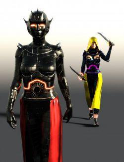 Scifi Dark Goddess Outfit For Genesis 8 Female(s)