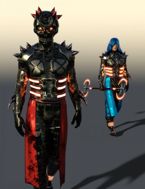 Scifi Dark God Outfit For Genesis 8 Male(s)
