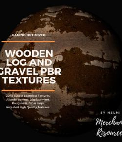 Wooden Log and Gravel PBR Textures- Merchant Resource