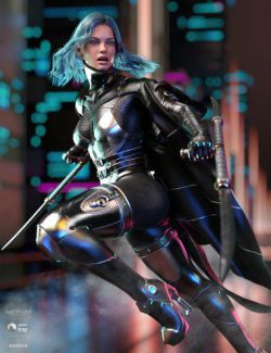 dForce Void Suit-X Outfit and Weapons for Genesis 8 Female(s)