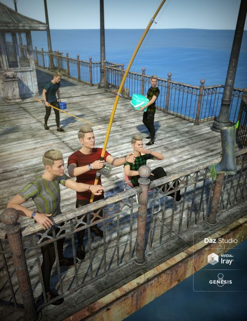 End of the Pier Poses for Genesis 8 Male