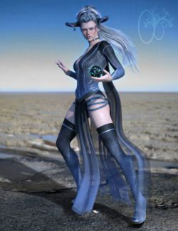 CB dForce Dark Essence Outfit for Genesis 8 Female(s)