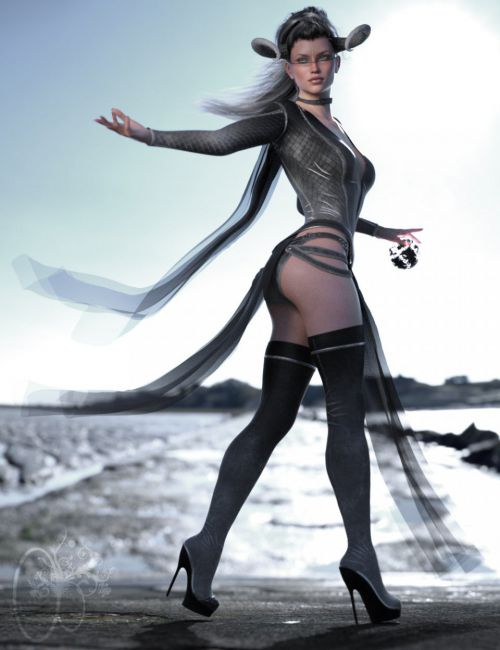 CB dForce Dark Essence Outfit Texture Expansion