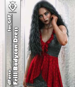 JMR dForce Frill Bodycon Dress for G8F