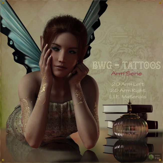BWG - Tattoos, Arm Serie for G3-G8 - DAZ Studio