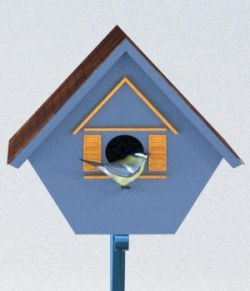 Four Birdhouses - OBJ