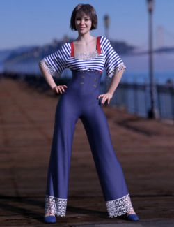 dForce Anchors Aweigh Outfit for Genesis 8 Female(s)