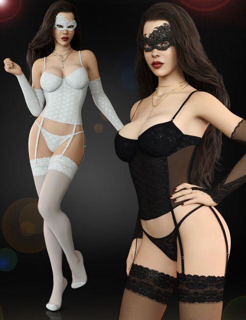 995eae1e8f5 ... Corset Lingerie Set for Genesis 8 Females(s) ...