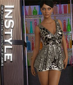InStyle- JMR dForce Frill Bodycon Dress for G8F