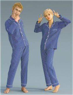 dForce H&C Pajamas Set for Genesis 8