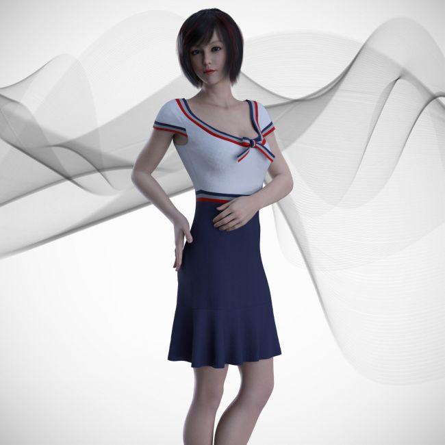CC Dforce School Dress 1 For G8f