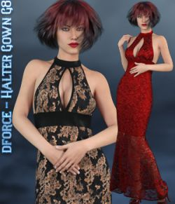 dforce - Halter Gown - Genesis 8