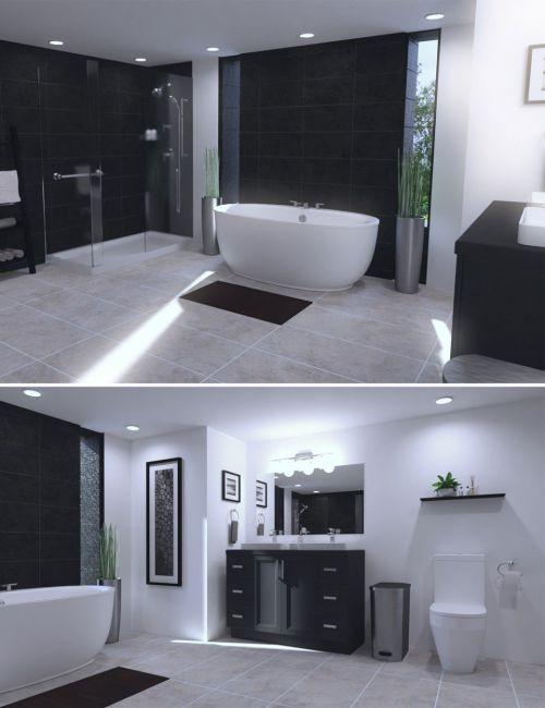 Sophisticated Tile Bathroom