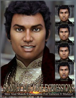 Mixable Expressions for Sanjay 8 and Genesis 8 Male(s)