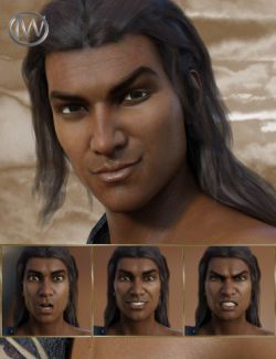 Wild Fury - Expressions for Genesis 8 Male and Sanjay 8