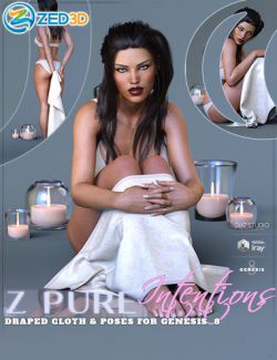 Z Pure Intentions Cloth Prop and Poses for Genesis 8 Female