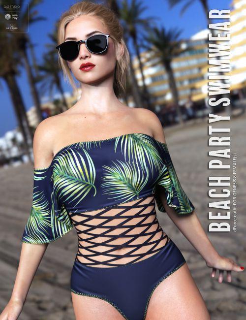 dForce Beach Party Swimwear for Genesis 8 Females