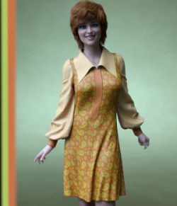 dForce Material add-on for Vintage Vivification Dress