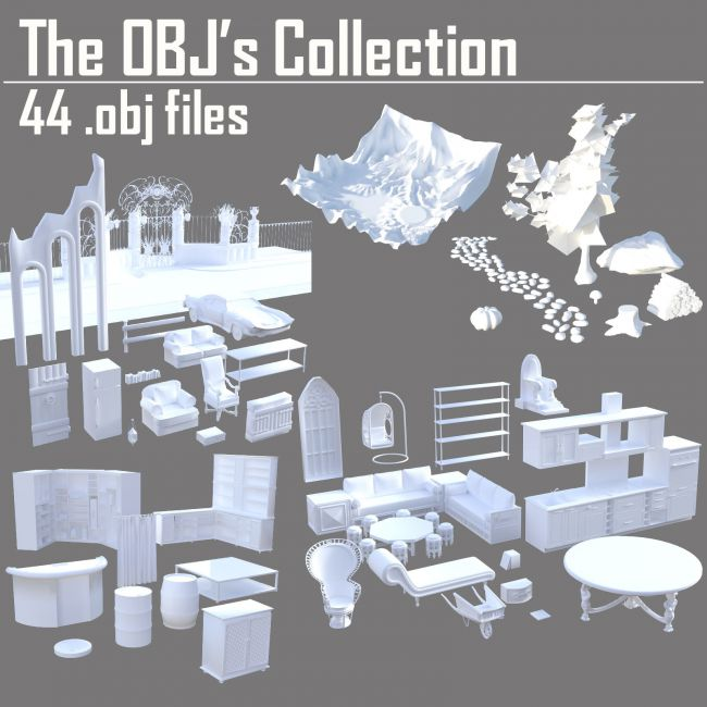 The OBJs Collection - Extended License