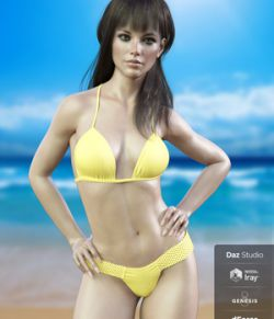 X-Fashion Braided Bikini for Genesis 8 Females